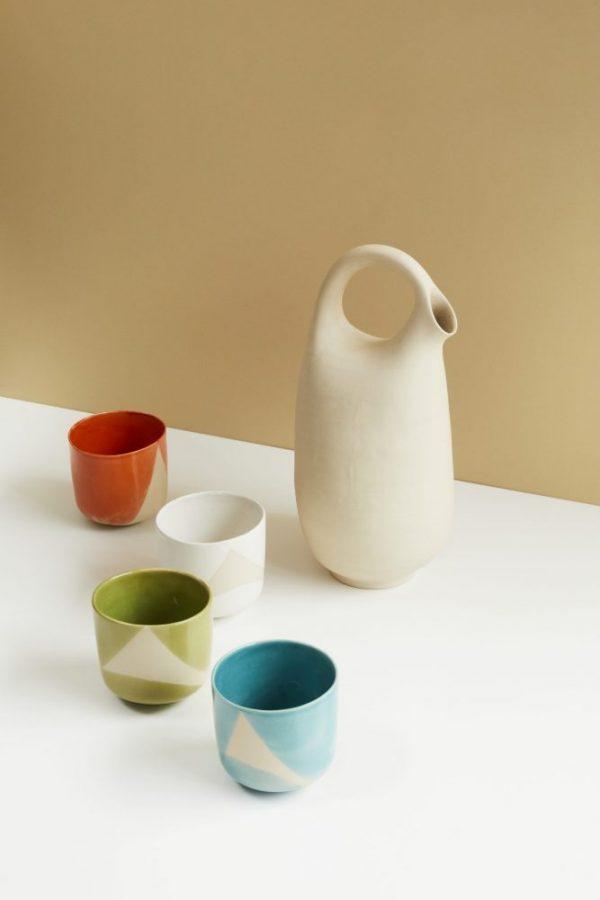 Pichet _David_ et tasses couleurs1535 ┬®DAVID JAPY