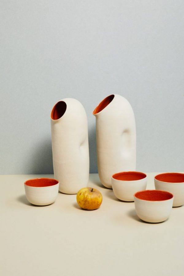 Pichets _Assoiffe_ orange tasses 2019 ┬®DAVID JAPY
