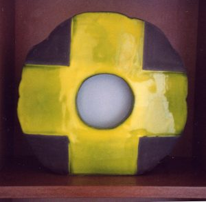 Lampe O noir croix jaune