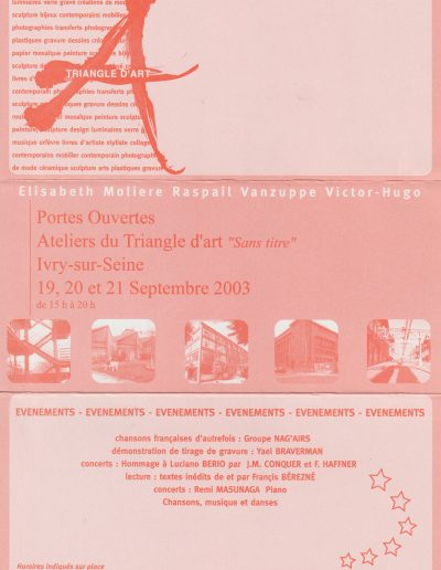 Portes ouvertes Manufacture des Œillets Ivry-sur-Seine 2003
