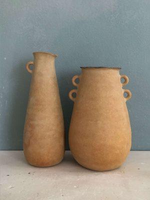 vases petites anses grès roux 2020